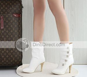 Casual-Women-Rivet-High-Heel-Ankle-Boots-Shoes 3