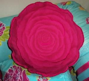 Coussin Decoration Rose