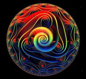 alien 3d mandala spiral by pixwizart-d3eh9ix