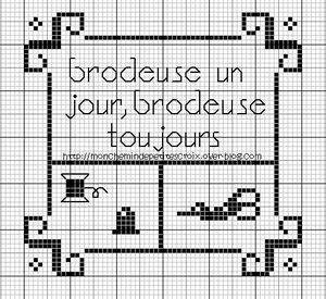 Brodeuse un jour brodeuse toujours