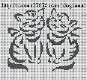grilles point de croix chat le blog de ticoeur27670. Black Bedroom Furniture Sets. Home Design Ideas