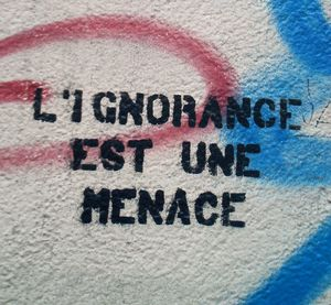 L'ignorance est une menace