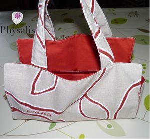 sac à cake lin et rouge