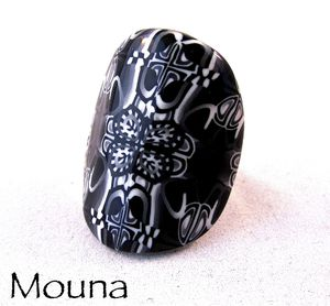 Bague Black and white 5 DISPONIBLE: 15 euros.