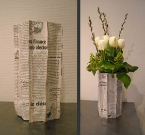 vases de papier avec 10 doigts. Black Bedroom Furniture Sets. Home Design Ideas