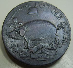 George III & Caroline SmallMedal​lion Token Pig