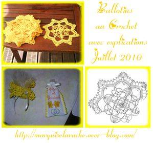 ballotin crochet mariage