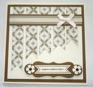 carte fanion taupe