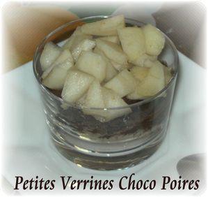 Petites verrines choco P 3
