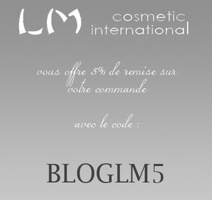 codes de réduction lm cosmetic