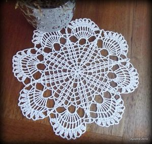 Crochet d'art napperon N°7