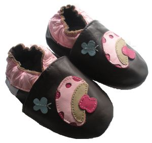 chaussons bebe cuir champignons2