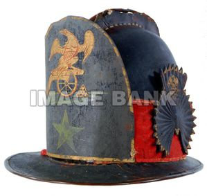 American Militia Artillery Mans Cap With Painted Frontplate