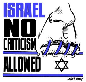 israel criticism not allowed by latuff2