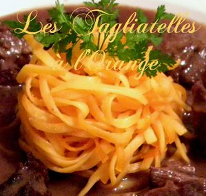 tagliatelles à l'orange