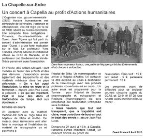 article AH ouest France 8 4 13