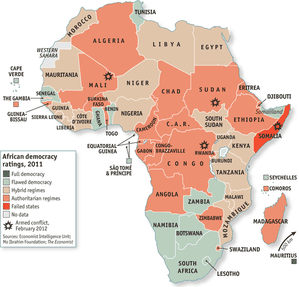 The Economist African Democracy A Glass Halffull Une - What does this map tells us about african independence