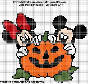 Grille gratuite point de croix mickey et minnie - Grille gratuite point de croix disney ...