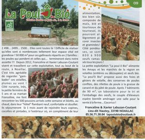 article poulet franceline