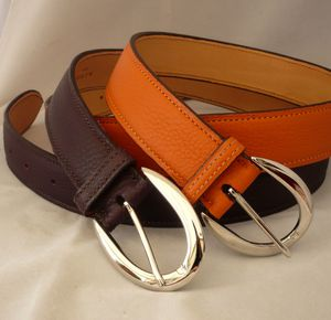 b450c6276591 Ceintures sur mesure Taurillon raisin et orange   Grape and Orange Bespoke  belts
