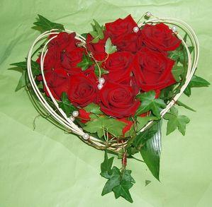 Roses coeur fete des meres