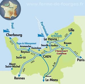 carte ferme de fourges normandie