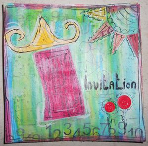 maison mixed media invitation2
