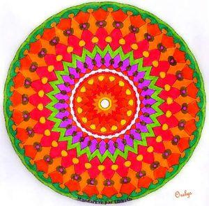 coloriage mandala vierge