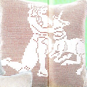photo coussin Vierge