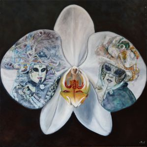 ORCHIDEE (huile 80 x 80 cm)