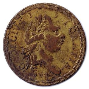 S&T 1800 GEORGE III Guinea Gaming Counter Neilson #3990 G