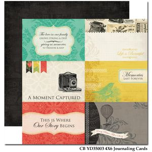 CB YD35003 4X6 Journaling Cards