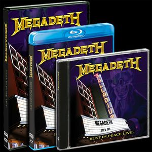 Megadeth--Rust In Peace Live-pack cd dvd bluray