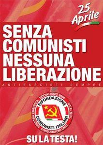 66ème anniversaire de la libération de l'Italie du fascisme et du nazisme : plus que jamais, l'exigence de la reconstruction du Parti communiste italien