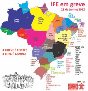 La plus grande grève de l'histoire universitaire Brésilienne continue contre la précarisation de la carrière des enseignants et contre la casse de l'éducation publique