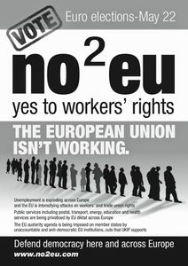 En Grande-Bretagne, il existe un « non » de gauche à l'Union européenne du capital : « No2EU – Yes to workers rights » !