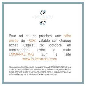 LOU MISTRAOU - OFFRE EXCLUSIVE - CULTUREMARKETING