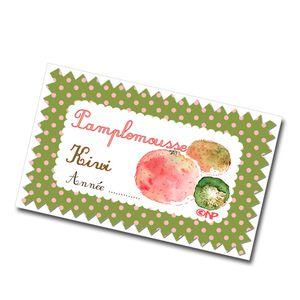 étiquette confiture de pamplemousse-kiwi à imprimer gratu
