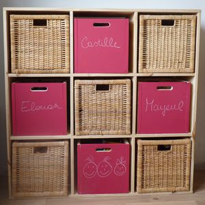 meuble pin carre 9 cases
