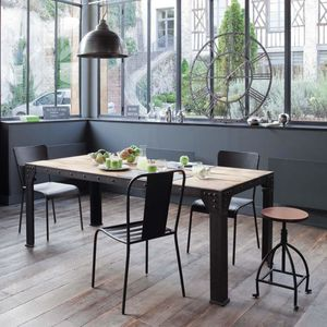 guide table de salle manger style industriel en bois. Black Bedroom Furniture Sets. Home Design Ideas