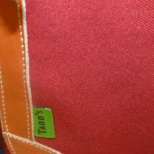 tann's cartable classic natural matière coton cuir