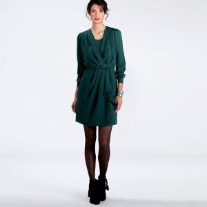 robe drapée en crepe la redoute 39.99