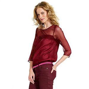 blouse dentelle plumetis kiabi 17.99