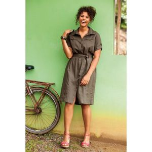 robe chemisier lin coton taillissime 59.99