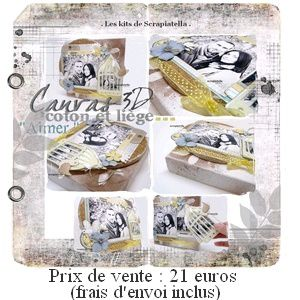 Petit visuel kit scrapbooking canvas
