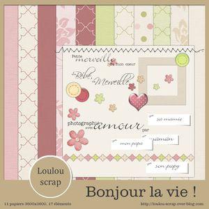 aperçu Bonjour la vie! Partie Loulou