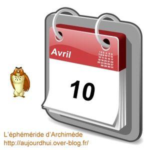 éphéméride 10 avril