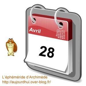éphéméride 28 avril