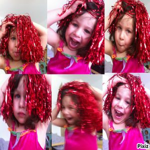 photocollageflavie cheveux rouges