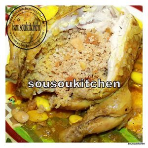Poulet farci 
